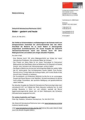 Bäder – gestern und heute - Schweizer Heimatschutz