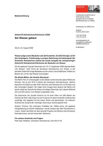 Am Wasser gebaut - Schweizer Heimatschutz