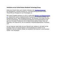 Institutes an der Corliss Review Steinbeis Technology Group
