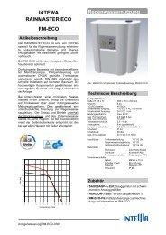 INTEWA RAINMASTER ECO RM-ECO Regenwassernutzung