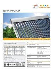 Datenblatt EUROTHERM-Kollektor