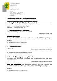 2011_06_20_Pressemitteilung Gemeindeversammlung - Heimiswil
