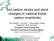 Soil carbon stocks and stock changes in national forest carbon ...