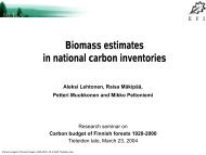Biomass estimates in national carbon inventories - European Forest ...