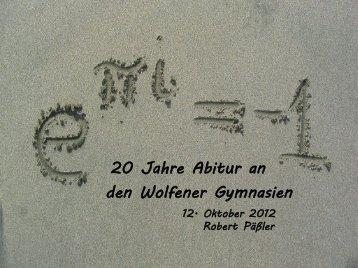 Vorlesung - Heinrich-Heine-Gymnasium Bitterfeld-Wolfen