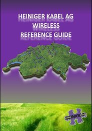 Wireless Reference Guide - Heiniger Kabel AG