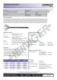 Datenblatt anzeigen - Heiniger Kabel AG