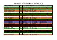 Rennkalender Skiverband Bayerwald Saison 2011/2012