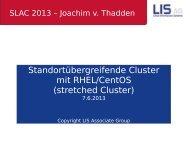Standortübergreifende Cluster mit RHEL/CentOS ... - Heinlein