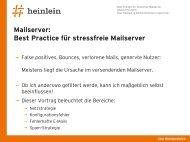 Mailserver: Best Practice für stressfreie Mailserver - GUUG