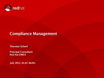 """Vortrags-PDF """"Compliance Management mit OpenSCAP"""" - Heinlein"""