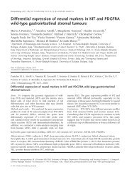 Differential expression of neural markers in KIT and PDGFRA wild ...