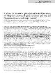 A molecular portrait of gastrointestinal stromal tumors - Heinrich ...