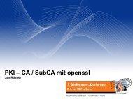 PKI – CA / SubCA mit openssl - Heinlein