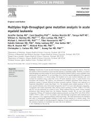 Multiplex high-throughput gene mutation analysis in acute - Heinrich ...