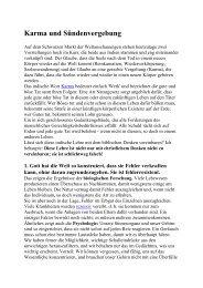 Karma und Sündenvergebung - Heinrich Tischner