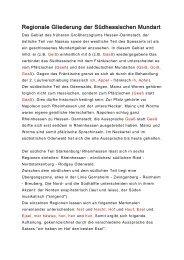 Regionale Gliederung der Südhessischen Mundart - Heinrich Tischner