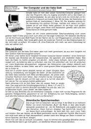 Der Computer und der liebe Gott - Heinrich Tischner