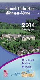 Unser Ferienprogramm 2014 - Heinrich-Lübke-Haus