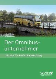 Der Omnibus- unternehmer - Verlag Heinrich Vogel