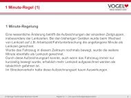 1 Minute-Regel (1) - Verlag Heinrich Vogel