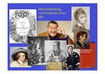 Märchendichtung von Grimm bis Grass vom 07 - Heinrich Detering