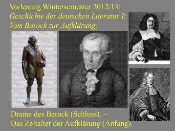 Vom Barock zur Aufklärung VII - Heinrich Detering