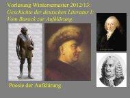 Vom Barock zur Aufklärung X - Heinrich Detering
