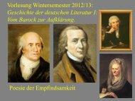 Vom Barock zur Aufklärung XI - Heinrich Detering