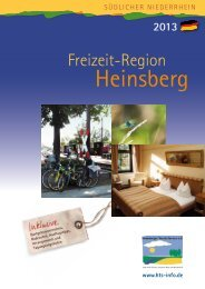 Magazin 2013 - Heinsberger Tourist-Service