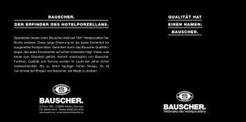 QUALITÄT HAT EINEN NAMEN: BAUSCHER ... - HEINZ GmbH