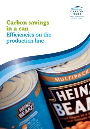Carbon savings in a can Efficiencies on the production line - Heinz