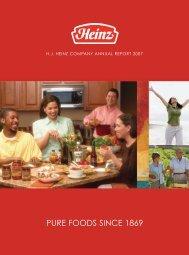 PURE FOODS SINCE 1869 - Heinz