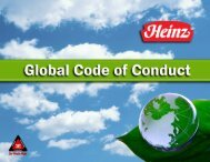 Download the Heinz Global Code of Conduct (PDF)