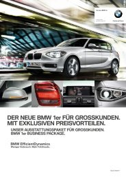 Der neue BMW 1er. Business PACkAge.