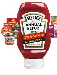 H.J. Heinz Company 2003 Annual Report - AIAS