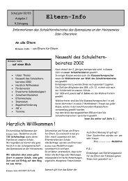 Elterninfo 1 - Gymnasium an der Heinzenwies