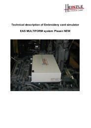 EAS Multiform SAURER - Heinzle Sticktechnik GmbH