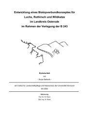 Entwicklung eines Biotopverbundkonzeptes für Luchs, Rothirsch ...