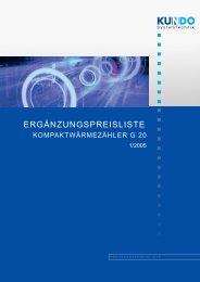 Ergänzungspreisliste Kompaktwärmezähler - Heizkosten-online.de