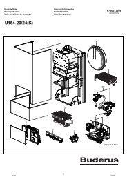 U154-20/24(K) - Buderus Ersatzteile für Heizungsanlagen