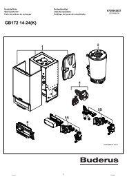 GB172 14-24(K) - Buderus Ersatzteile für Heizungsanlagen