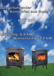 Wassergeführter Zentralheizungs Antik Kaminofen HFB 507 aus ...