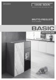 Haas+Sohn Ofentechnik GmbH Basic Preisliste für Kamine ...