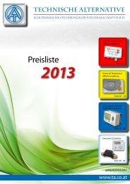 Technische Alternative Katalog - Heizung und Solar zu ...