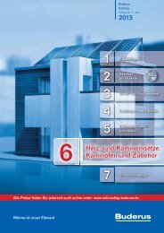 Buderus Preisliste und Rabattliste Katalog Teil 6 für Buderus ...