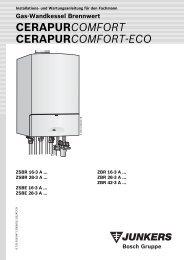 CerapurComfort-Installationsanleitung - Heizung und Solar zu ...