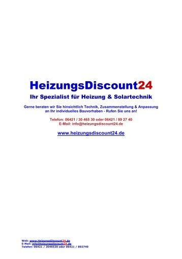 Junkers - Heizung und Solar zu Discountpreisen