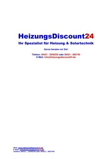 Junkers Cerastar Planungsunterlagen - Heizung und Solar zu ...