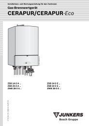 Cerapur-Installationsanleitung - Heizung und Solar zu ...